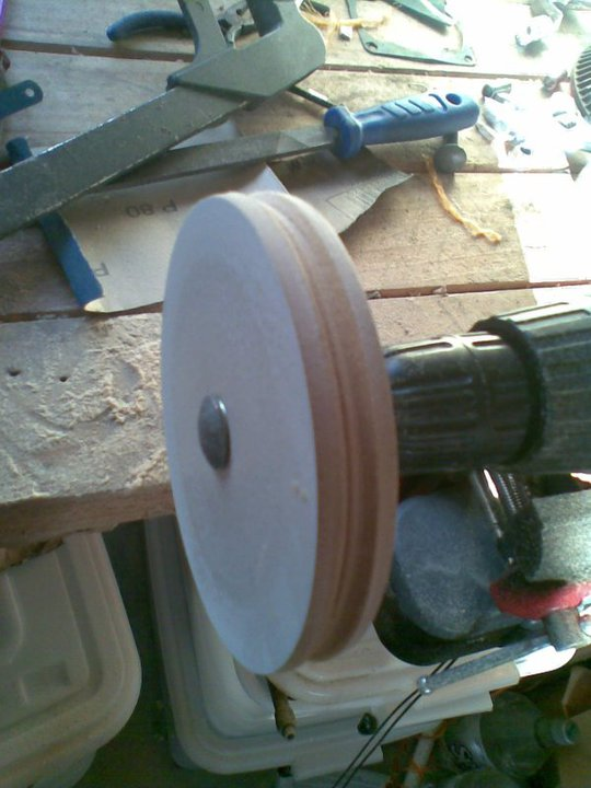 Pulley being turned