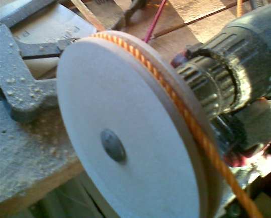 Finished MDF pulley